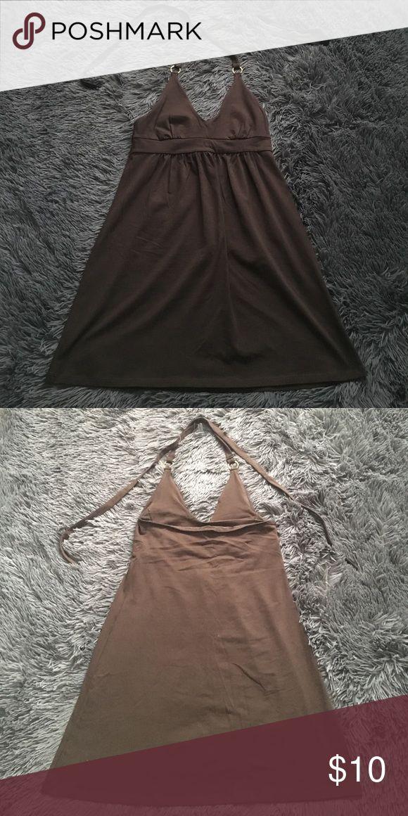 Brown Beach Dress Brown beach dress, size S Moda International Dresses Mini