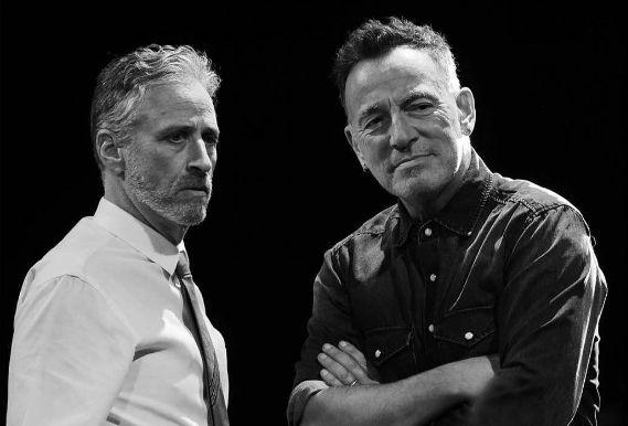 Bruce Springsteen and Jon Stewart, November 2016.