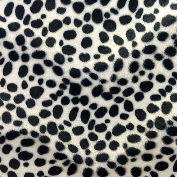 White Black Dalmatian Dog Velboa Faux Fur Fabric Sold By The Yard 58 60 With Images Faux Fur Fabric Dalmatian Dogs Fur Fabrics