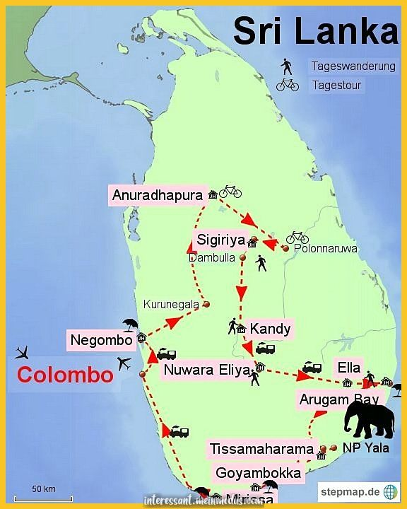 Luxuriöse Sri Lanka_Reiseroute