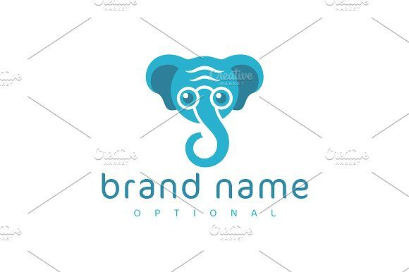 For sale. Only $29 - animal, elephant, wise, smart, intellect, guide, support, strength, nerd, teacher, memorable, simple, modern, mascot, cartoon, trunk, old, character, glasses, wisdom, experience, knowledge, reliability, intelligence, longevity, consulting, education, professor, blue, logo, design, template,