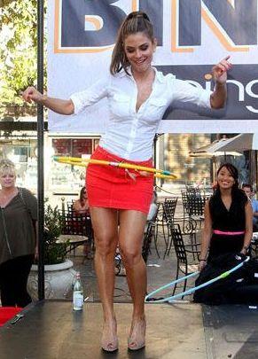 Maria Menounos Hula Hoops