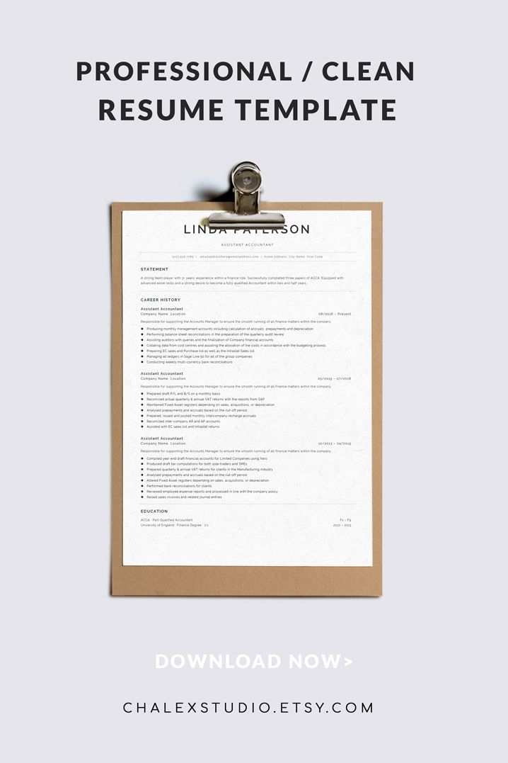 Resume Template, Classic Resume, CV Template Word, Curriculum Vitae