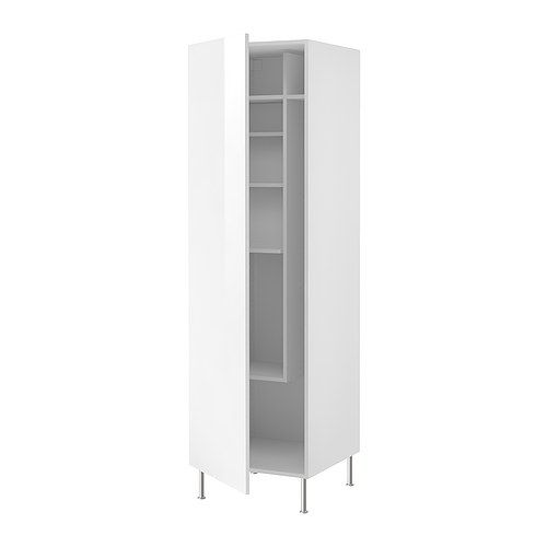 $430 FAKTUM High cabinet with cleaning interior, Abstrakt white Abstrakt white 60W x 60D x 195H (no legs) / 211H (legs) cm http://m.ikea.com/aa/en/catalog/products/spr/39880186/