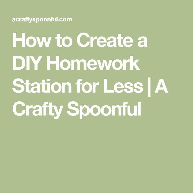 17 Best Ideas About Homework Station On Pinterest