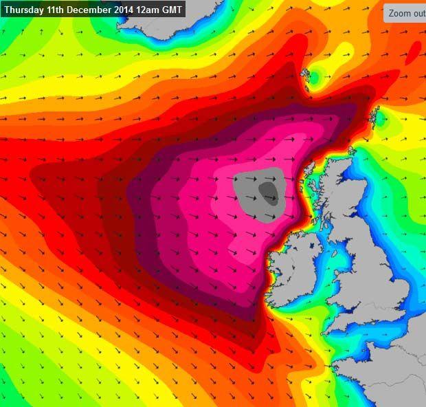 Океанские волны в Ирландии.