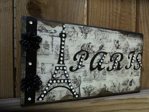 PARIS Decor Sign Decorative Eiffel Tower in by AlmaSweetHeartDeals, $15.00