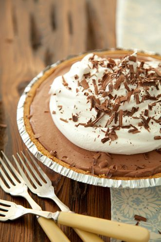 Paula Deen Truffle Pie #chocolate #recipe
