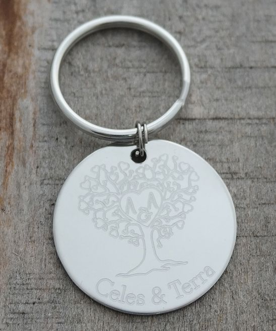 Stainless Steel Personalized Tree Key Chain