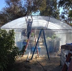Large Greenhouse used for the Aquavets Project. -CAB