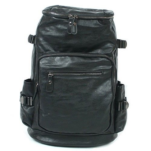 Leather Laptop Backpack for Men Black College Bags Online 482