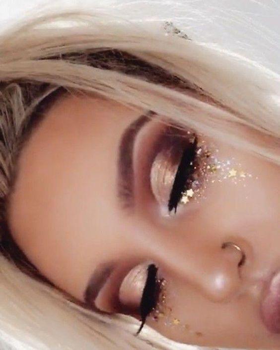 Idéias simples de maquiagem; Maquiagem de festival; sombra; Maquiagem de baile ela …   – Bester Make-up