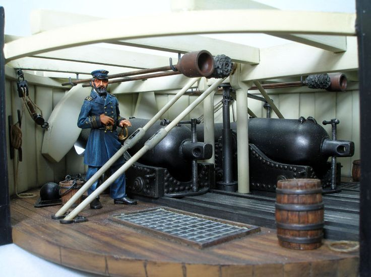Russ Holm - Union Navy USS Monitor Gun Turret - Austin Scale Modelers Society Gallery