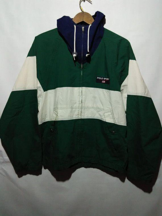 VINTAGE 90s POLO sport jacket sweater windbreaker
