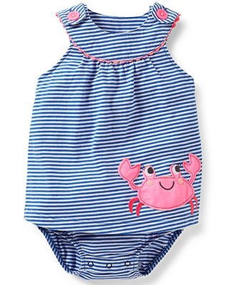 Carter's Baby Girls' Striped Sunsuit - Kids Baby Girl (0-24 months) - Macy's