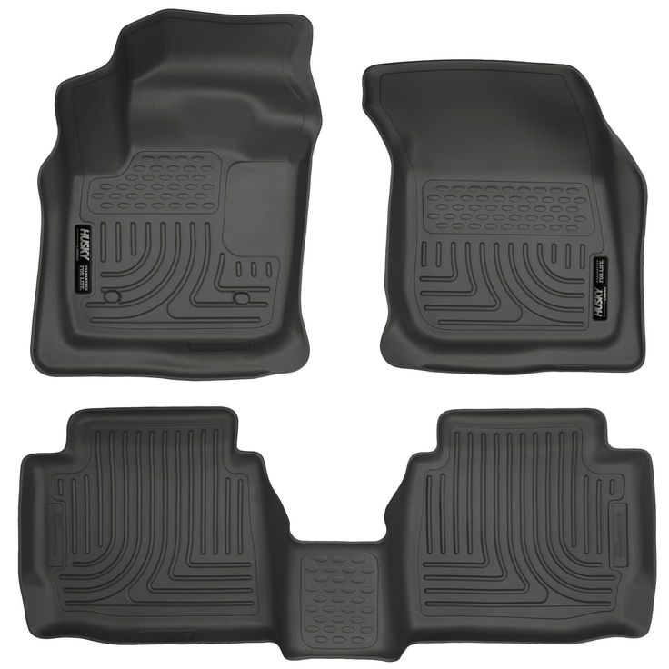 Husky Weatherbeater 2013-2016 Ford Fusion Energi Titanium Black Front & Rear Floor Mats/Liners