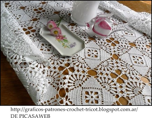 Manteles on Pinterest | Crochet Tablecloth, Tablecloths and Filet ...