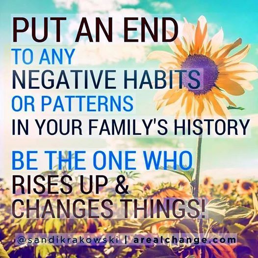 """we need """"break the pattern"""", by having courage to set boundaries, say no, stand up to bad behavior, by no longer accepting it as status quo, or ENABLING it by doing nothing.... TRAIN UR BRAIN ;) cmd we can end the cycle with our generation!"""