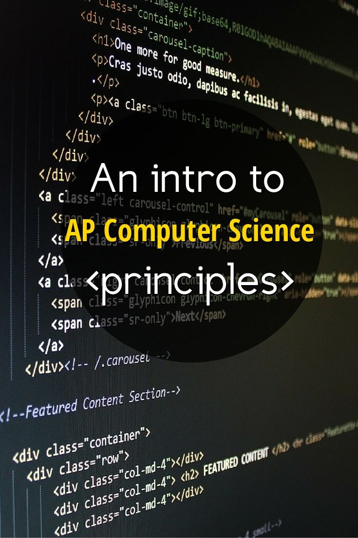 An intro to the new #AP Computer Science Principles course. #ComputerScience