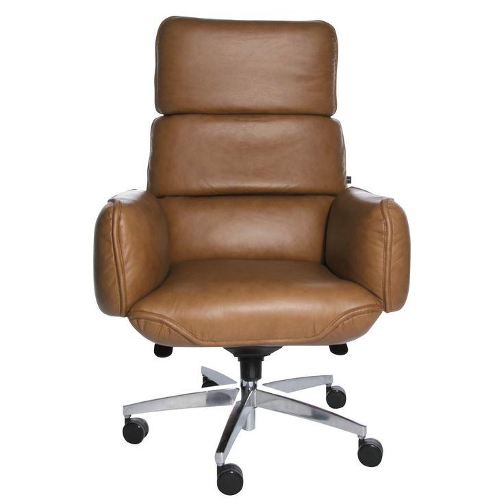 Drehstuhl-Chefsessel-Leder-Buerosessel-Schreibtischstuhl-Zapf-Chair