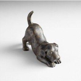 """Metal Playful Puppy Sculpture 4.75""""w"""
