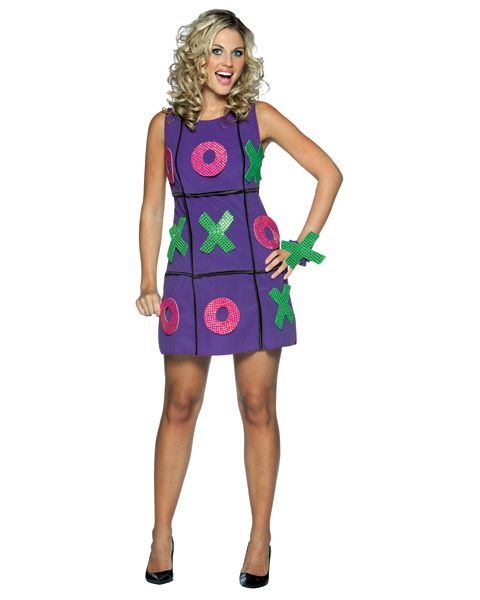 purple tic tac toe costume set women by rasta imposta - Board Games Halloween Costumes