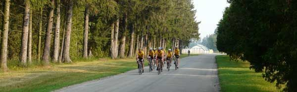 Cyclists in the Delhi area of Norfolk County http://www.norfolktourism.ca