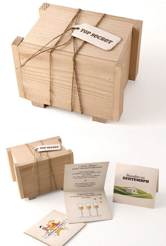 Gorgeous wedding invitation packaging PD