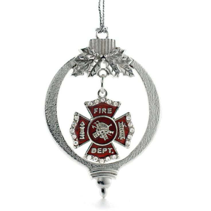 Firefighter Badge Holiday Ornament