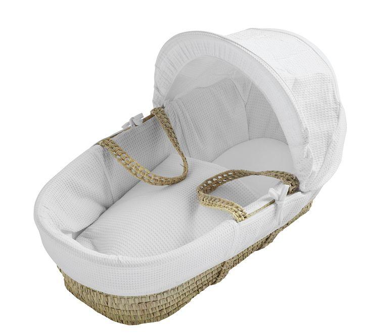 Kinder Valley Waffle Moses Basket (White): Amazon.co.uk: Baby 2,3kg - 86 x 47 x 30 cm @ £28.95