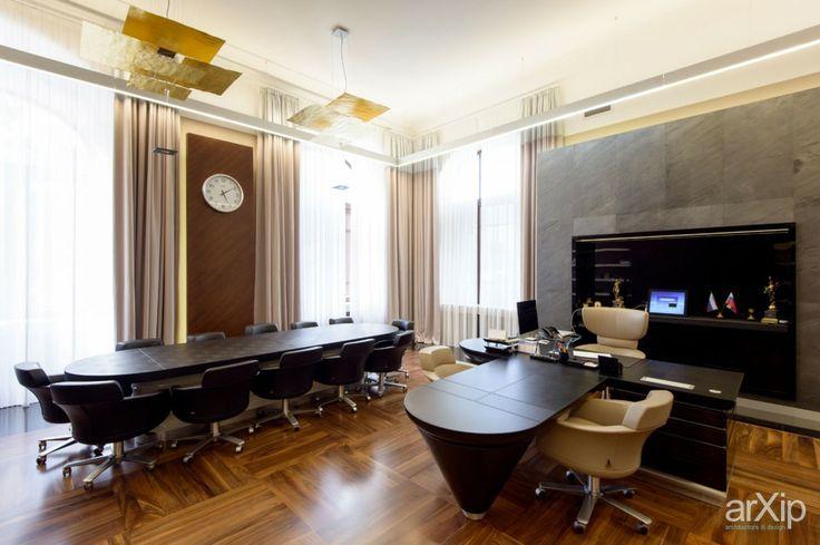 зал для совещаний правления: интерьер, офис, администрация, кабинет личный, кабинет руководителя, минимализм, 80 - 100 м2 #interiordesign #office #administration #personalcabinet #officeofceo #minimalism #80_100m2 arXip.com