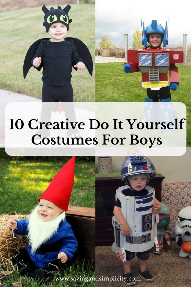 Are you looking for creative do it yourself costumes for boys. Look no further, checkout these amazing do it yourself costumes for boys.