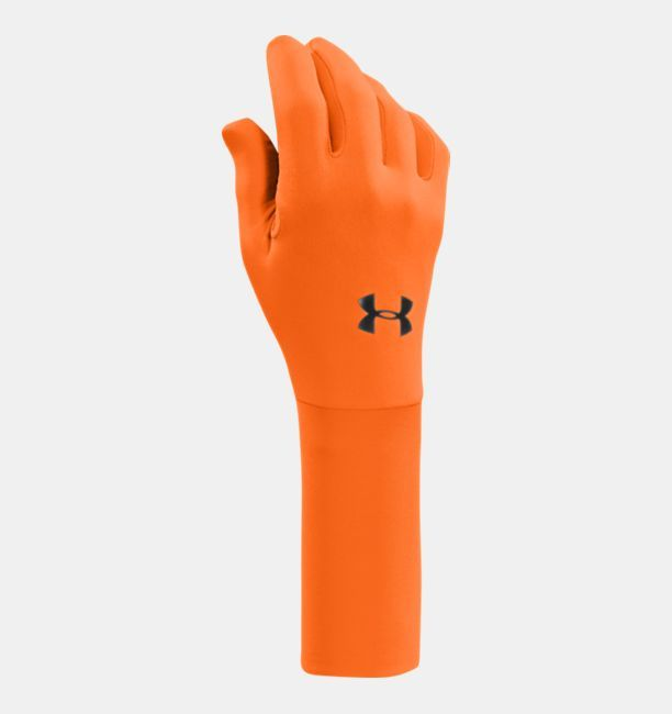 Men's ColdGear® Liner Gloves, Blaze Orange