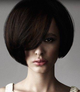 A medium brown straight bob volume haircut womens hairstyle by Zullo and Holland