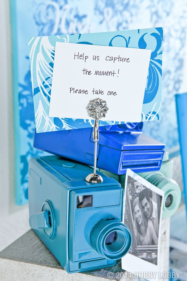 No storybook wedding is complete without pictures, and your friends & relatives will have lots of them with these custom printed cameras that double as favors!