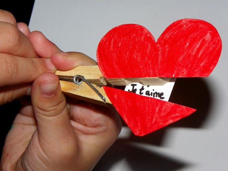saint valentin message pince à linge