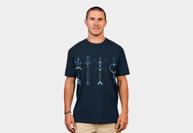 Geometric Arrows - Native American Sioux by #Beatrizxe   #designbyhumans #DBH #tee #shirt #thirt. Illustration of four geometric arrows inspired in the symbol of the four medicine arrows. North is knowledge, south is innocence, east is prudence and west is introspection (see within oneself) #arrow #arrows #geometry #geometric #geometrical #tattoo #indian #native #american #sioux #armony #north #south #east #west #knowledge #innocence #prudence #introspection #vector #time #abstract…