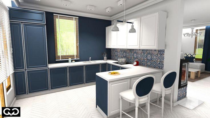 kafle w kuchni, nowoczesna kuchnia, kuchnia w stylu prowansalskim