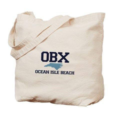 Ocean Isle Beach NC - Map Design Tote Bag on CafePress.com