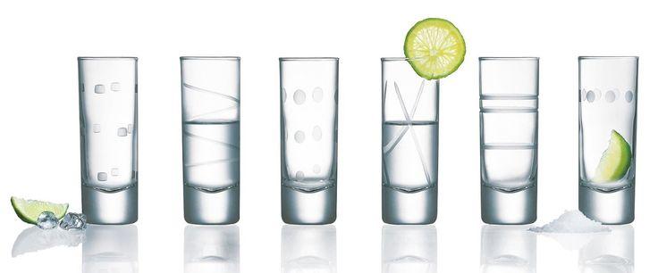 Luminarc Soho Assorted Shot Glasses, 2.25-Ounce, Set of 6