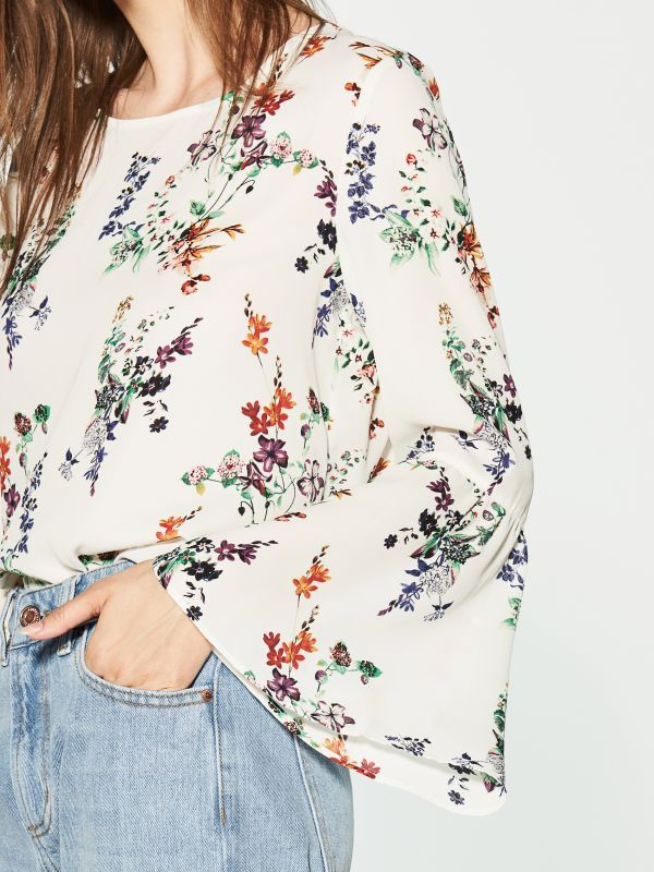 Bluzka z kwiatowym wzorem, HOUSE, RL835-MLC
