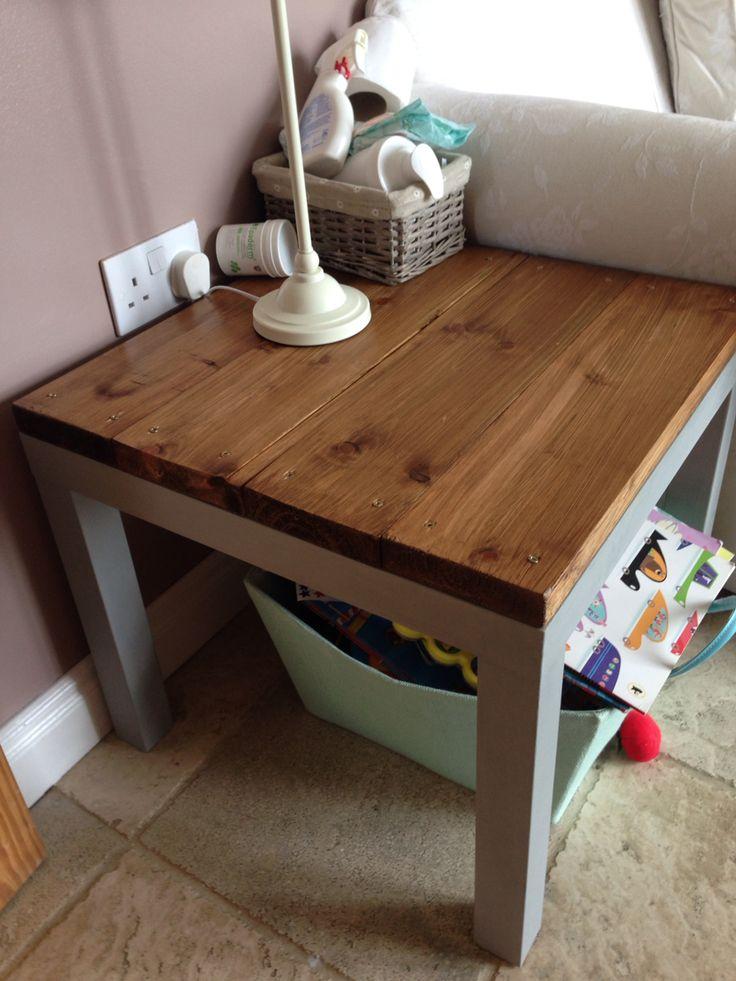 IKEA hack. Annie Sloan paint. Lack table. Ikea lack