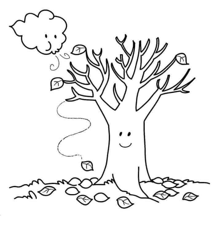 Free Fall Coloring Pages Preschool Fall Coloring Sheets Fall Coloring Pages Tree Coloring Page