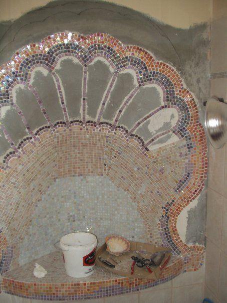 Seashell bathroom shower2