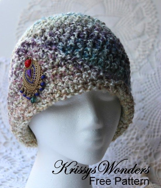 Ladies Fancy Chemo Cap Made with 5 Weight Yarn  36691e6623b