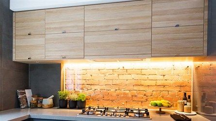 Kyal and Kara's Kitchen | The Block Fans v Faves |  Like the overhead shelving, is that locker style?