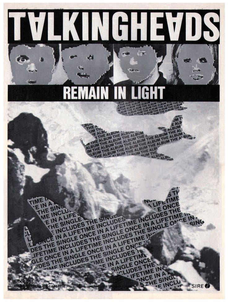 Advertisement for Remain In Light.