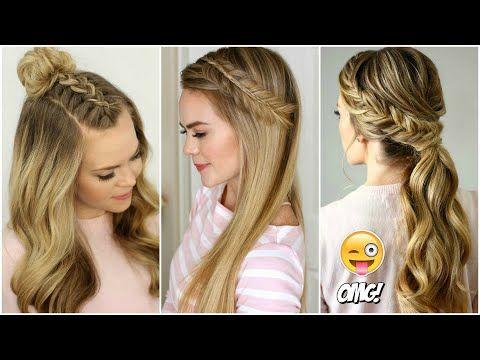 Modelo de peinado sobre cabello largo con efecto volumen Dual Style - YouTube