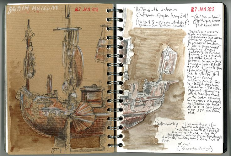 Grayson Perry Exhibition Sketchbook Pages - January 2012 www.duncancameron.org