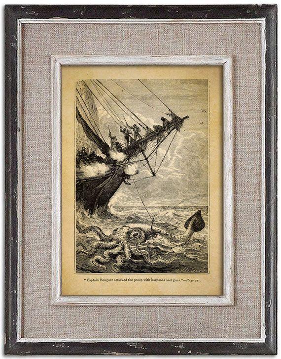 Forgotten vintage illustration of OCTOPUS No.2 by RoyalArtPrints